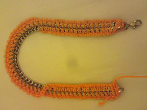 Bracelet Chaine Orange (5)