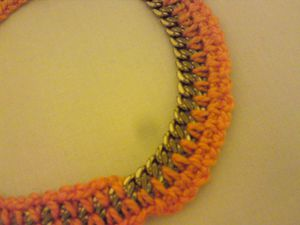 Bracelet Chaine Orange (7)