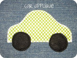 cozy car caddy applique