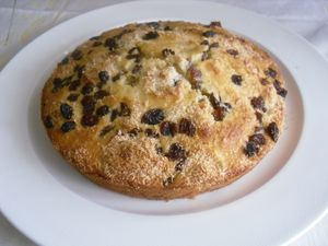 Gateau raisin sec coco