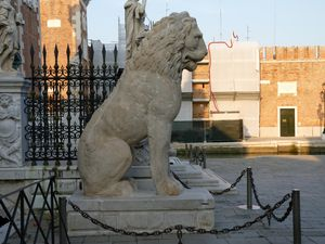 le lion de l'arsenal venise