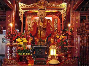 Confucius (Temple de la littérature, Hanoi) de Dalbera fli