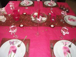 Table fushia et maron 006
