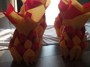 pliage de serviette ananas 004