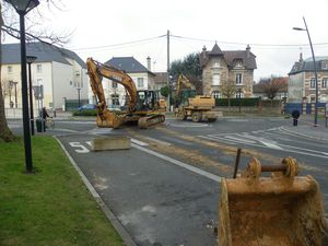 travaux rond point BD Victor Hugo