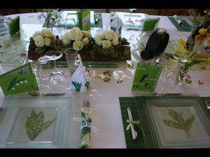 D cor de table ma table du 1 er mai 2011 le blog de jo lle for Decoration escargot exterieur