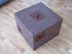 Table basse mes petits - Mobilier carton recycle ...