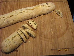 Biscotti pistaches canneberges 3