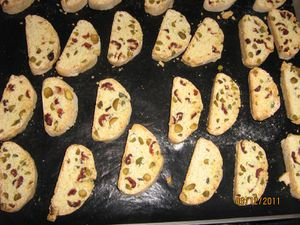 Biscotti pistaches canneberges 4