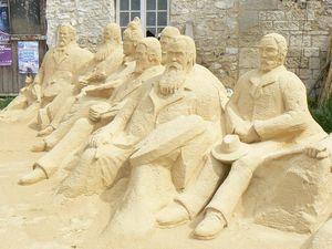 giverny sculpure de sable