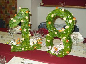 Table d 39 anniversaire esprit nature for Decoration 18 ans