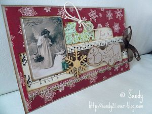 Sandy21 carte sketch card chez Scrap Inès