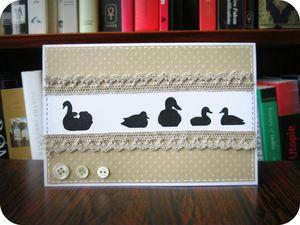 Scrap'Inès Carte vilain petit canard Ugly ducklng card