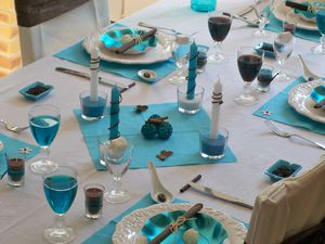 Table turquoise 045