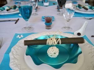 Table turquoise 065