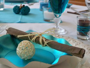 Table turquoise 098