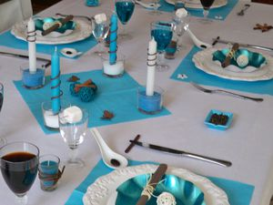 Table turquoise 108