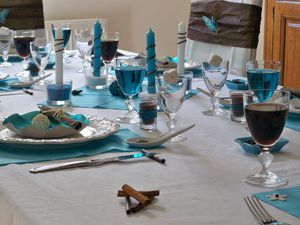 Table turquoise 143