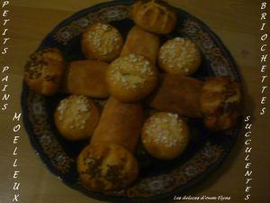 Petits pains moelleux et briochettes succulentes