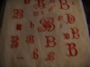la lettre B pour Marie_Anne