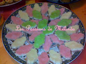 bouchées pate amandes-coco