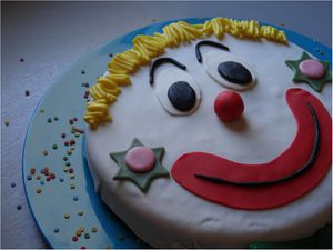 gateau clown