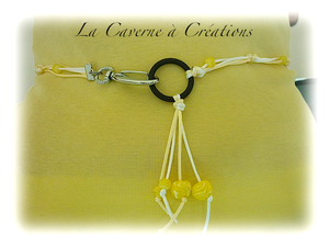 ceinture-decorative-jaune-fimo