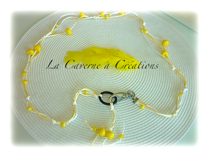 ceinture-decorative-perle-fimo-jaune-citron