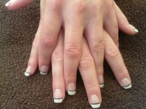 Ongles gel french bicolore