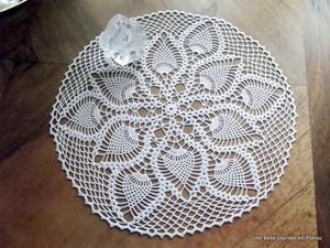 Napperon crochet d'art N° 6