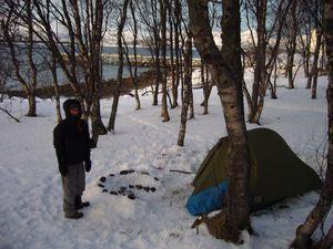 992 : Notre premier petit campement, Tromso