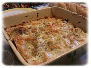Lasagnes fruits de mer et sauce tomate ultra légère