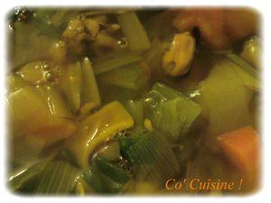 Bouillon poireau, carotte, fruits de mer (7)