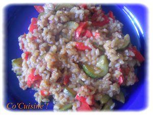 risotto à la courgette et au poivron (6)