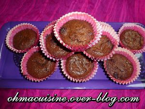 Muffins façon brownie