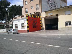 Graffti taller mecanico despues