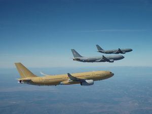 Three Airbus Military A330 MRTTs fly in formation photo Air