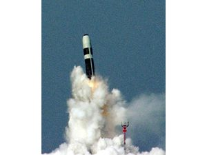 Trident II D5 missile photo UK MoD