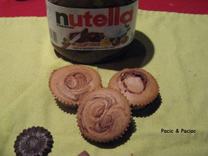 muffin marbré nutella