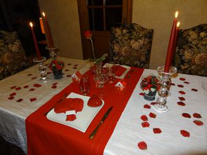 Mobilier table decoration table st valentin - Decoration st valentin ...