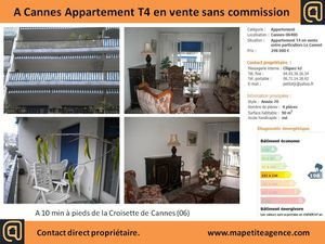Achat appartement t4 cannes particulier mapetiteagence var for Achat appartement t4