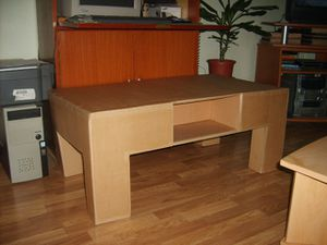 Une Table Basse Tout En Carton Le Blog Des Creatifs