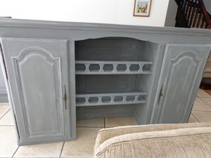 relooking en patine gris pour meubles en ch ne la d co by ll. Black Bedroom Furniture Sets. Home Design Ideas