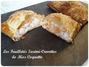 Feuilletés Surimi et Crevettes