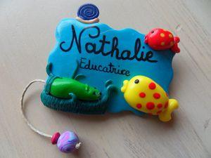 Badge fimo comptines pour enfants NATHALIE