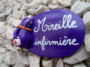 Badge fimo barbabelle MIREILLE
