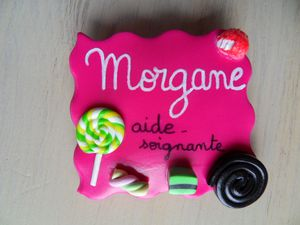 Badge fimo bonbons MORGANE
