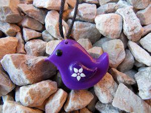 Pendentif zozio violet