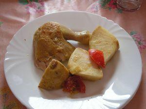 poulet au curry et au céleri