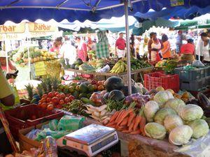 marché de Pointe à Pitre en Guadeloupe